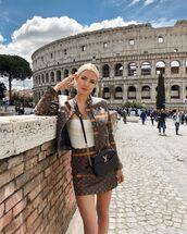jacket,leather jacket,louis vuitton,mini skirt,leather skirt,ysl bag,white top