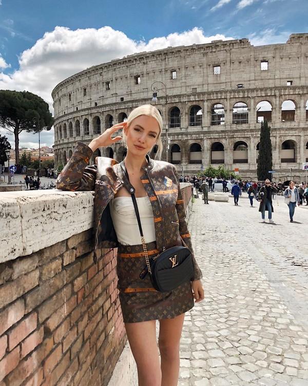 jacket leather jacket louis vuitton mini skirt leather skirt ysl bag white top