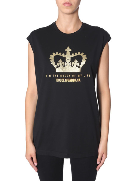 Dolce & Gabbana T-shirt Without Sleeves in nero