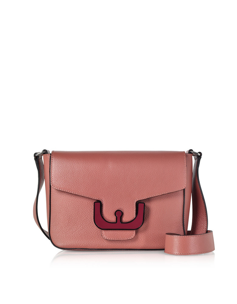 Coccinelle Ambrine Leather Crossbody Bag in rose