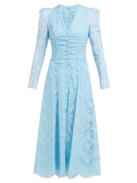 Erdem - Annalee Cotton Blend Chantilly Lace Gown - Womens - Blue