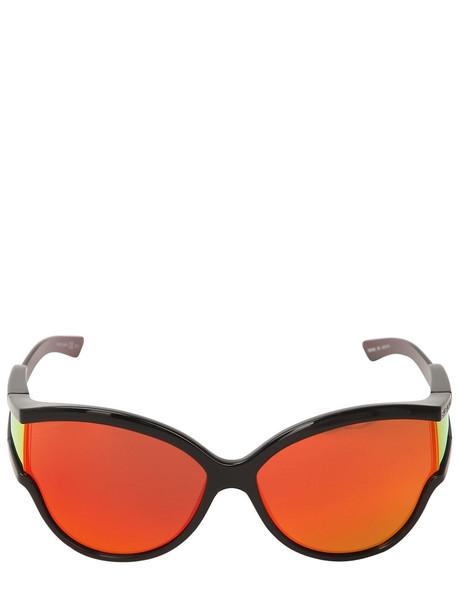 BALENCIAGA Unlimited Cat Eye Acetate Sunglasses in black / orange