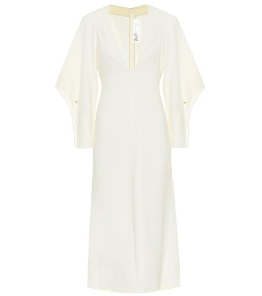 Victoria Beckham Stretch-cady midi dress in white