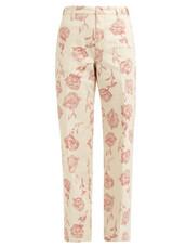 rose,cotton,print,pants