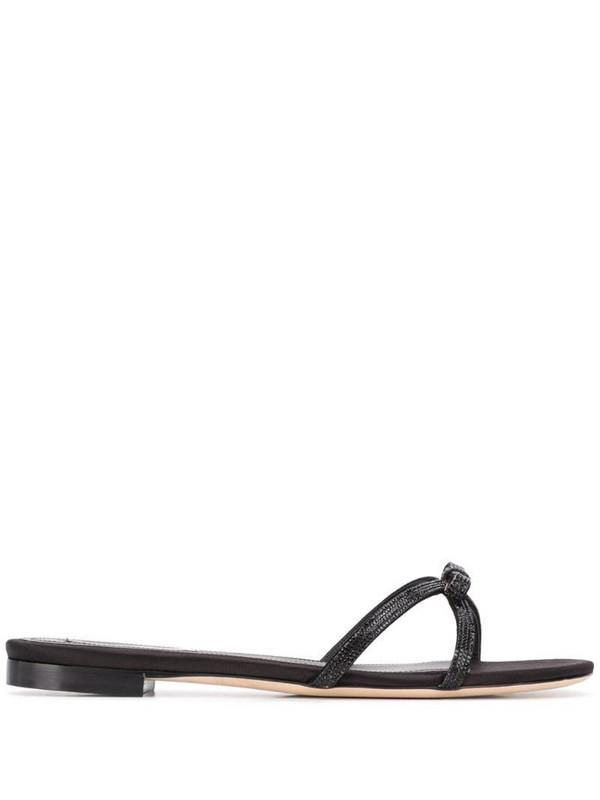 Marco De Vincenzo rhinestone bow sandals in black