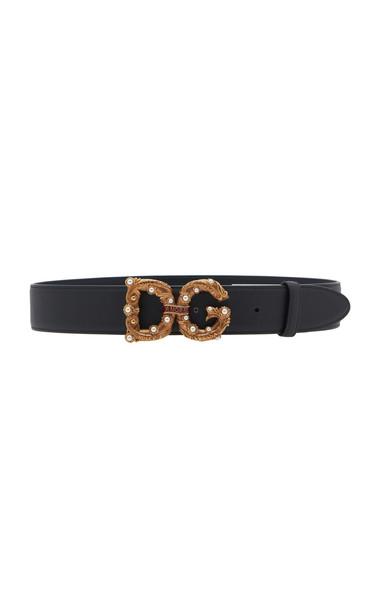 Dolce & Gabbana Logo Belt in black