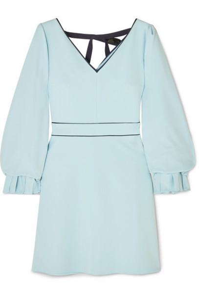 Roksanda - Darie Sequin-embellished Gathered Stretch-crepe Dress - Blue