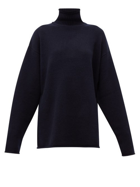 Extreme Cashmere - No.100 Hippy Cashmere Blend Sweater - Womens - Navy