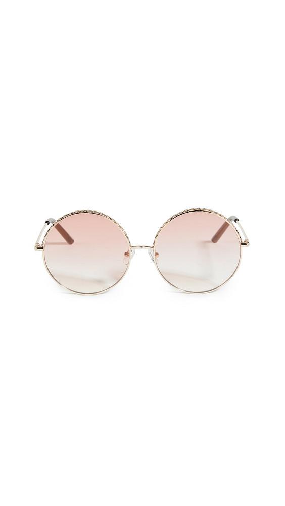 Linda Farrow Luxe Linda Farrow Geranium Round Sunglasses in chocolate / gold / orange