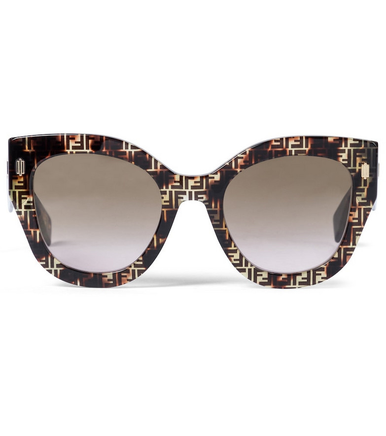 Fendi Roma FF acetate sunglasses in brown