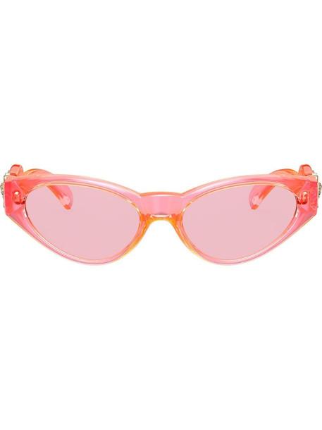 Versace Eyewear oval frames sunglasses in pink