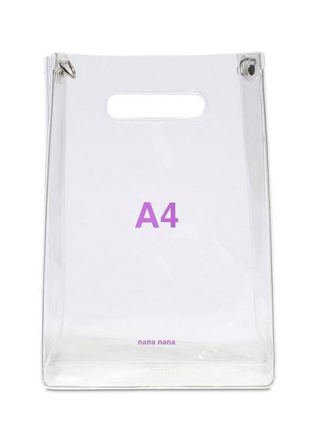 NANA NANA A4 Pvc Shopping Bag in transparent