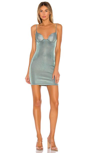 superdown Miranda Bustier Mini Dress in Sage,Blue