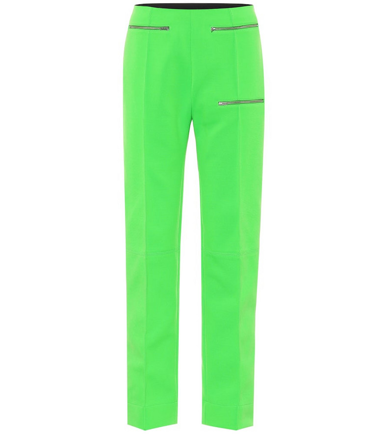 Kwaidan Editions Jersey-mousseline pants in green