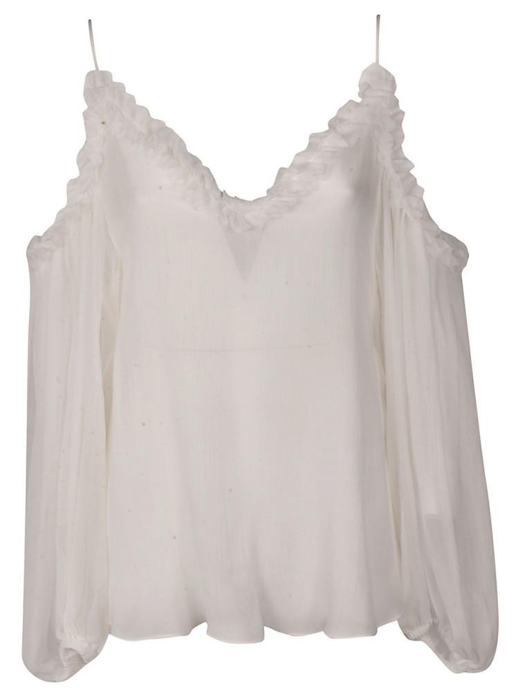 Stella Mccartney Cold Shoulder Dress in white