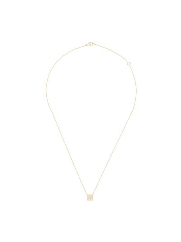Dana Rebecca Designs Princess 14kt yellow gold diamond necklace