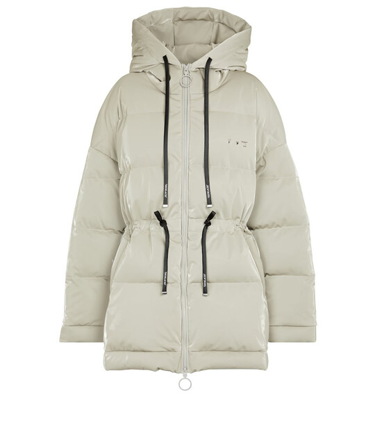 Off-White Reflective down coat in grey