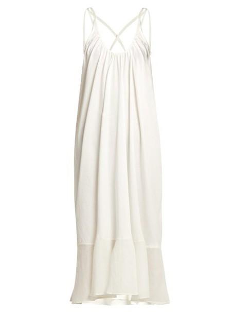 Skin - Juliet Flared Hem Cotton Dress - Womens - White