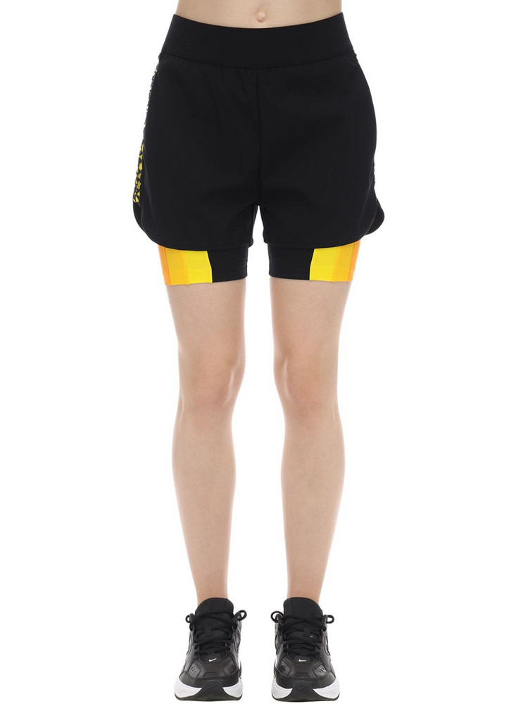NO KA'OI Powerhouse 2-in-1 Shorts in black / yellow