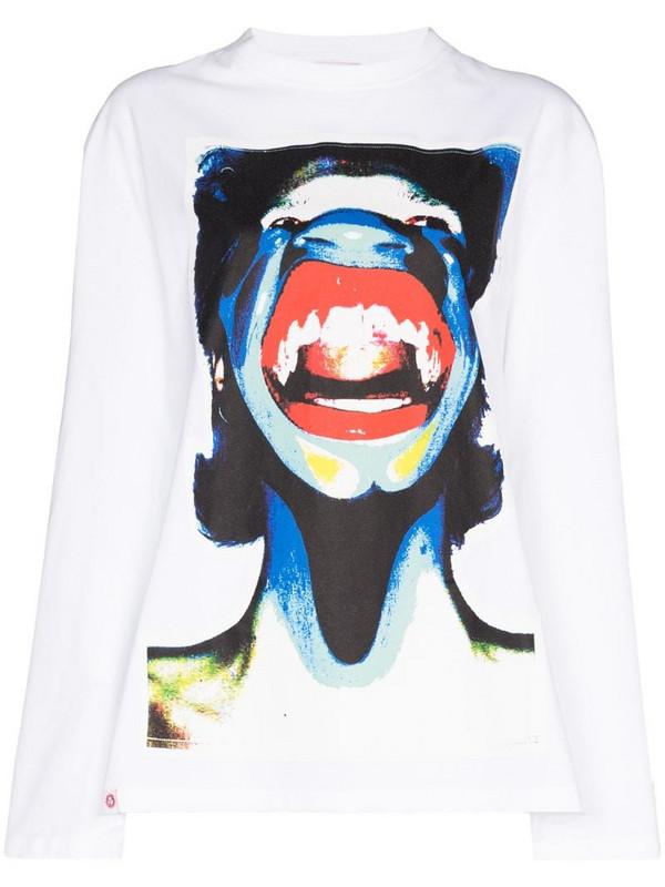 Charles Jeffrey Loverboy Scream print sweatshirt in white