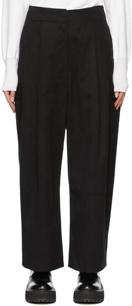 Studio Nicholson Black Dordoni Volume Pleat Trousers