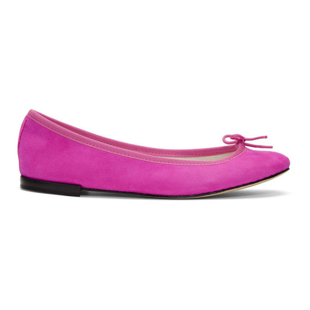Repetto Pink Suede Cendrillon Ballerina Flats