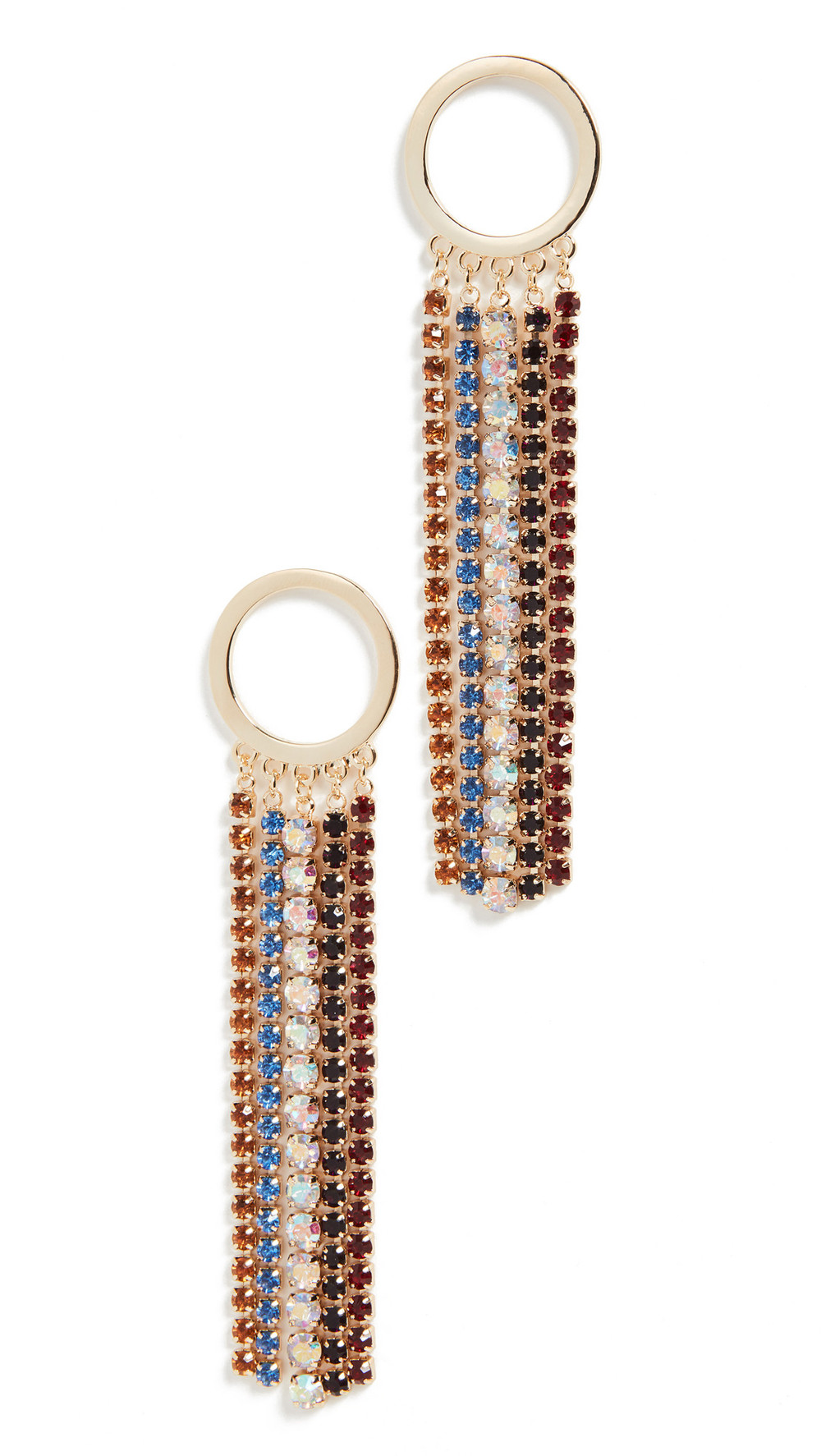 Jules Smith Rainbow Fringe Earrings in gold