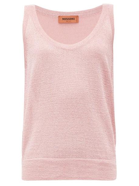 Missoni - Metallic-knit Tank Top - Womens - Pink