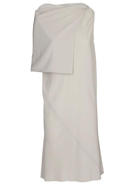 Rick Owens Cape Detail Dress in beige / beige