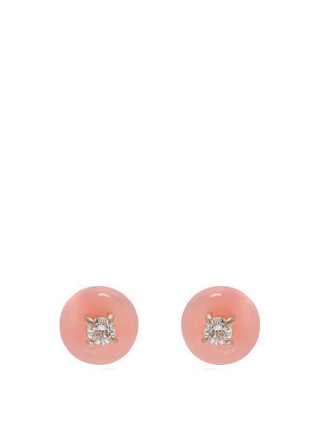 Irene Neuwirth - Diamond, Pink Opal And Yellow Gold Earrings - Womens - Pink