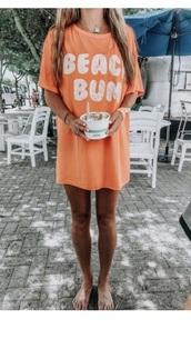 shirt,orange,beach