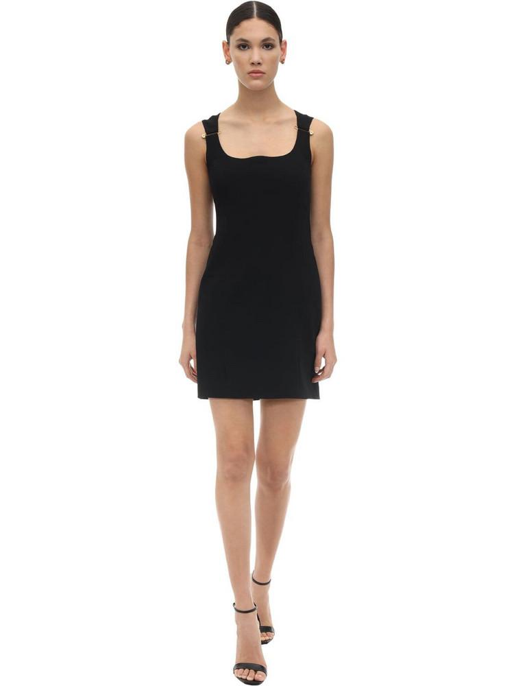 VERSACE Viscose Gabardine Dress in black