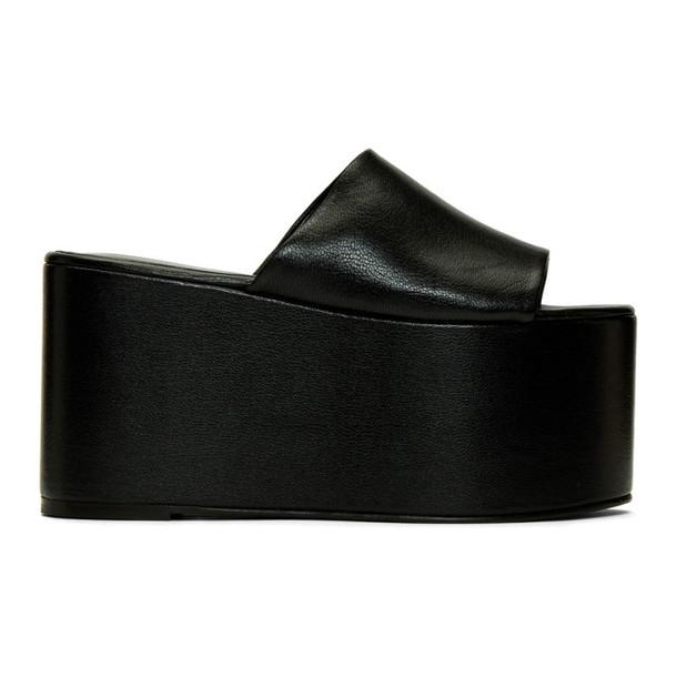 Simon Miller Black Blackout Platform Sandals
