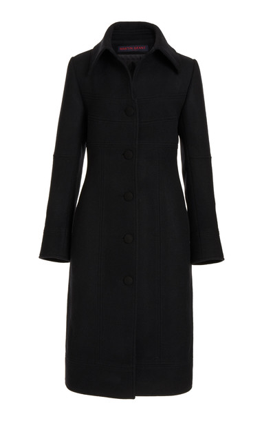 Martin Grant Napolean Wool-Blend Coat in black
