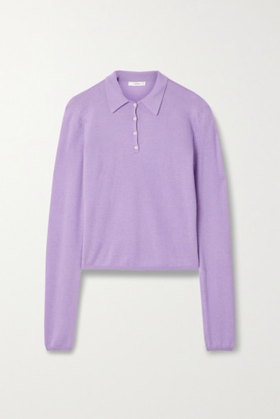The Row - Abanu Cashmere And Silk-blend Sweater - Lavender