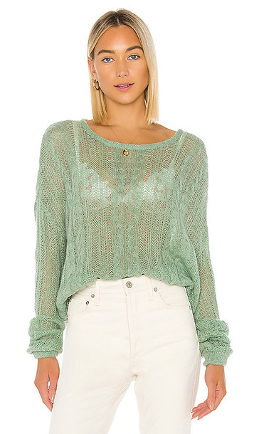 Free People Angel Soft Pullover in Sage in mint