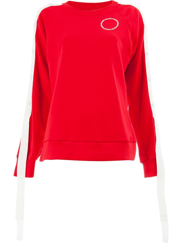 Monse raglan snap sleeve sweatshirt in red