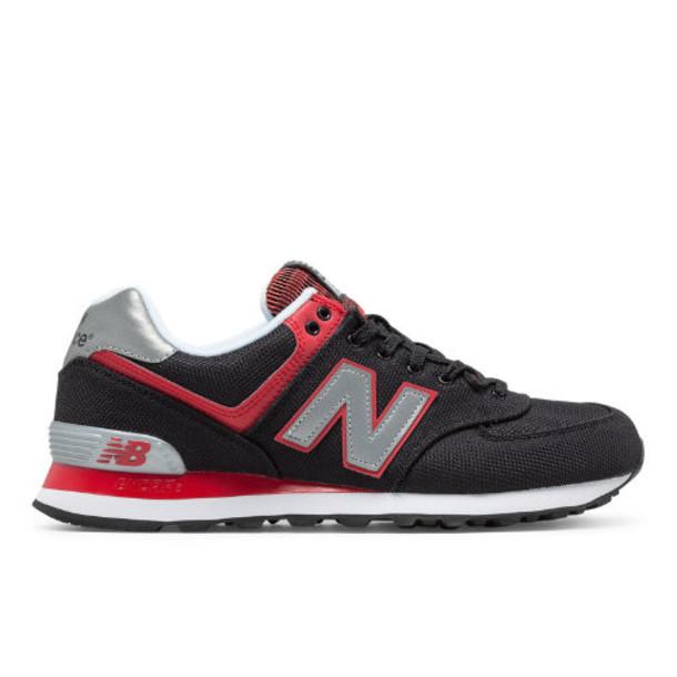 New Balance 574 Jetsetter Men's 574 Shoes - Black/Red (ML574JTR)