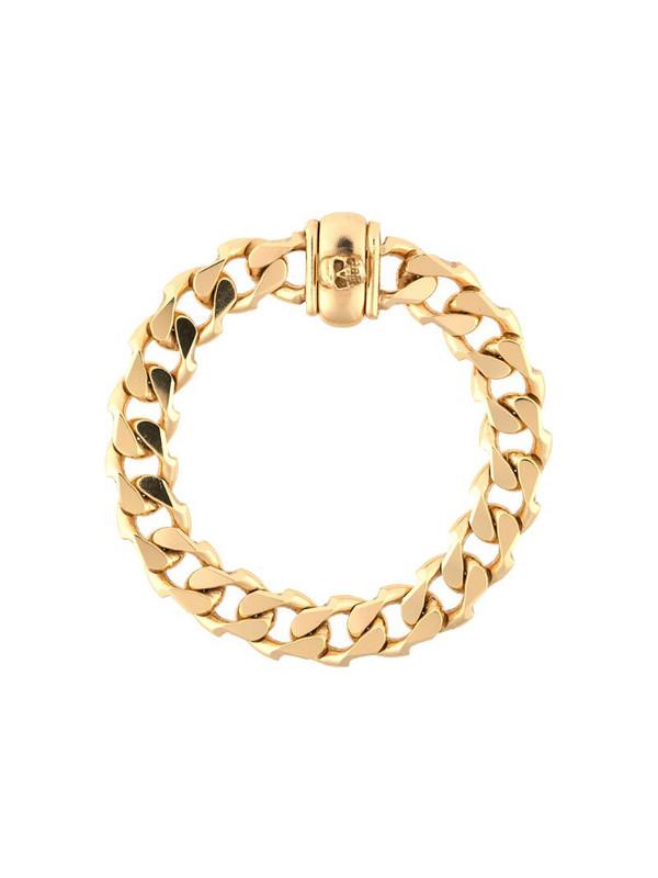 Emanuele Bicocchi edge cuban chain bracelet in gold