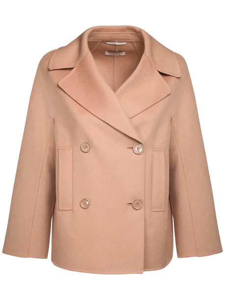 MAX MARA 'S Double Wool Fabric Peacoat in camel