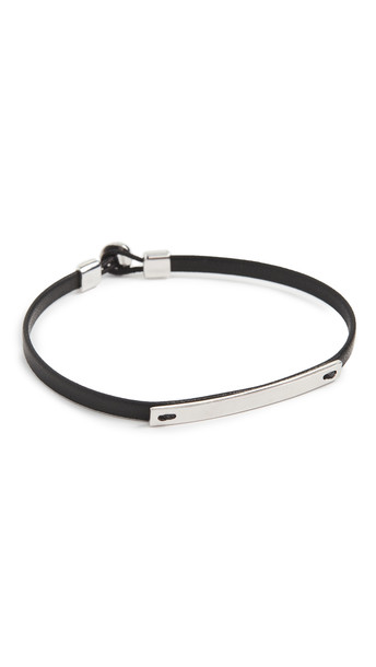 Miansai Nexus ID Bracelet in black / silver