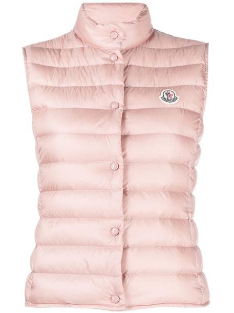 Moncler Liane puffer gilet jacket in pink