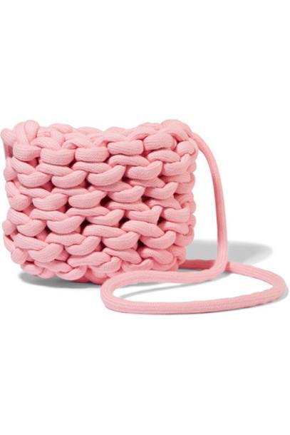 Alienina Kids - Woven Organic Cotton Shoulder Bag - Pink