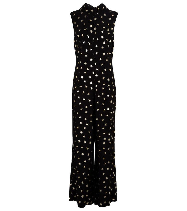 Rixo Frankie printed jumpsuit in black