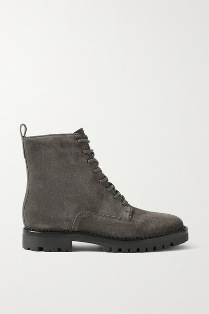Vince - Cabria Suede Ankle Boots - Gray