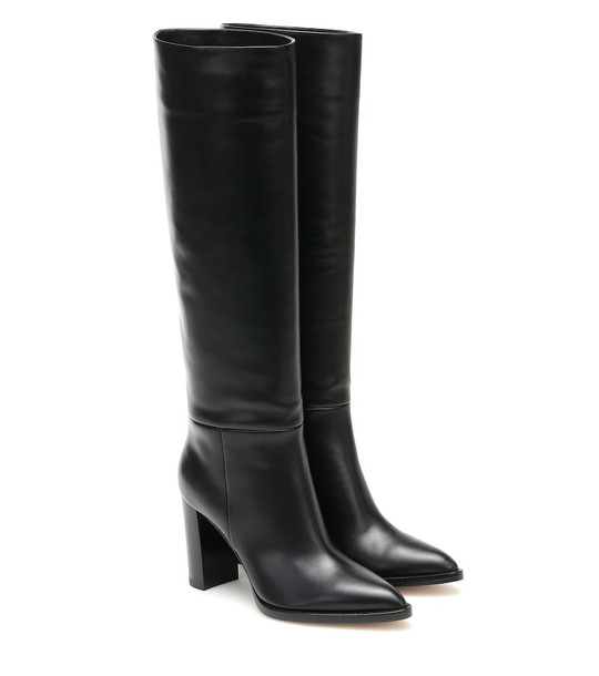 Gianvito Rossi Kerolyn leather knee-high boots in black