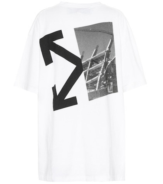 Off-White Printed cotton T-shirt in white