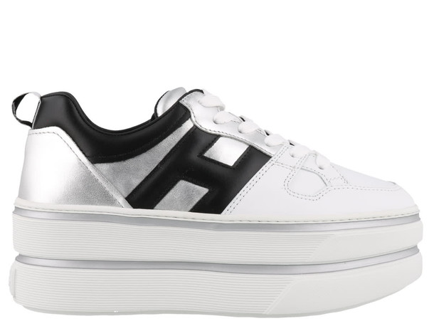 Hogan H449 Sneakers in black / silver / white