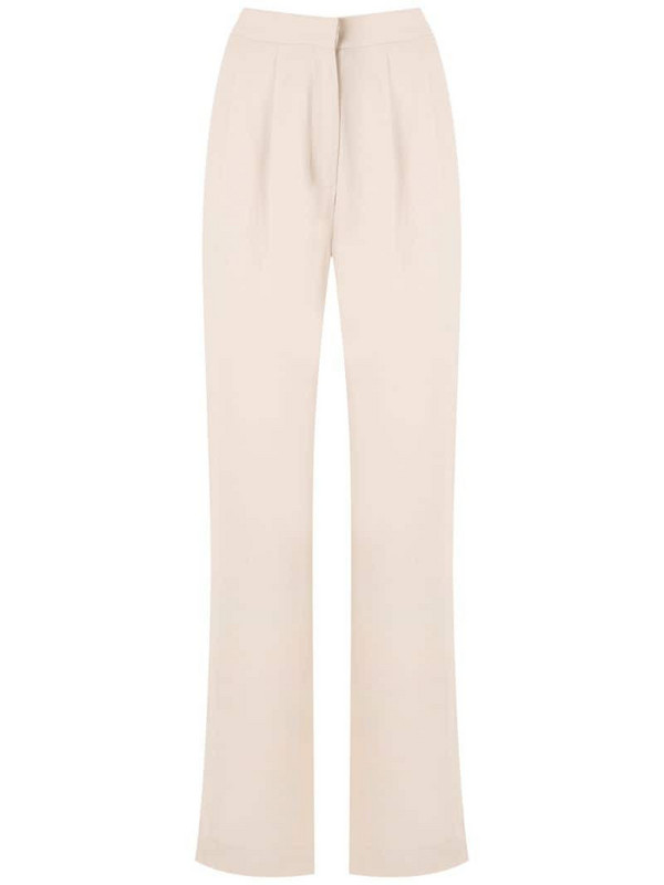 Andrea Marques pleated trousers in neutrals