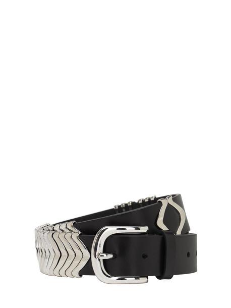ISABEL MARANT 35mm Tehorah Leather Belt in black
